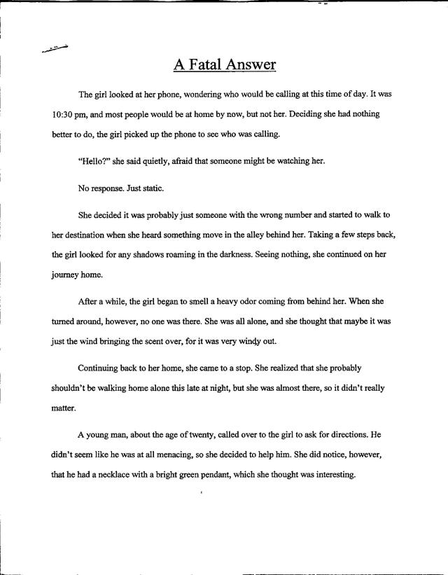 Fatal Answer Pg 1