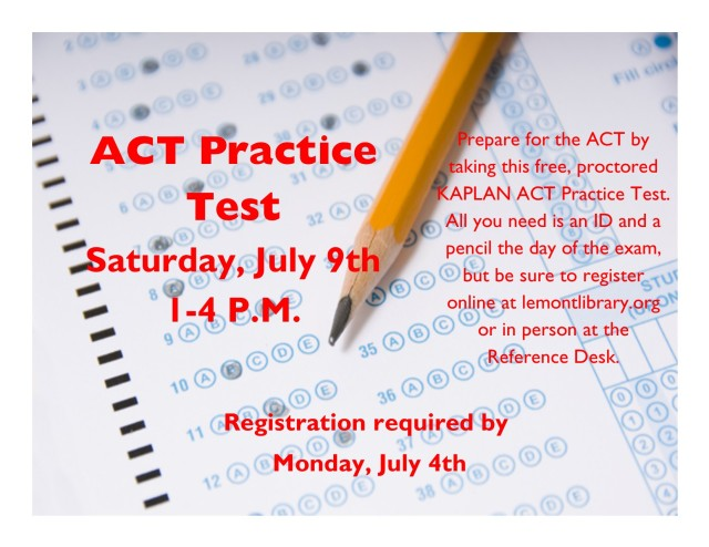 ACT Practice Test Flyer