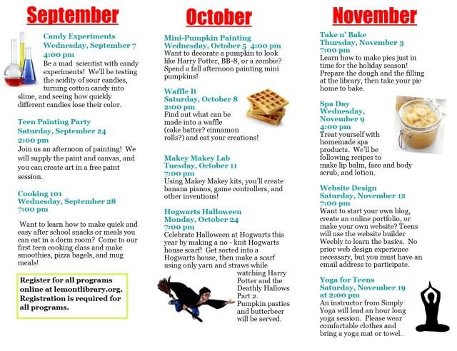 Fall 2016 Programs