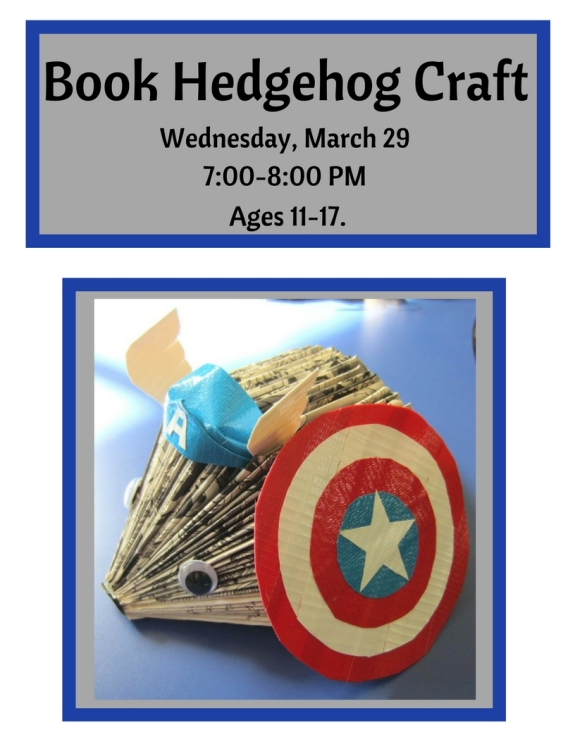 book-hedgehog-craft