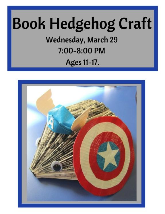 book-hedgehog-craft