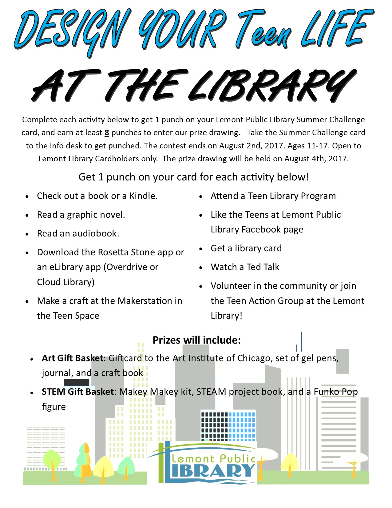 Here Library teen summer reading program pity