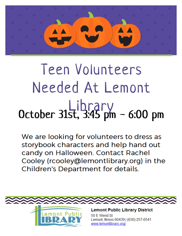 Halloween Volunteer Flier
