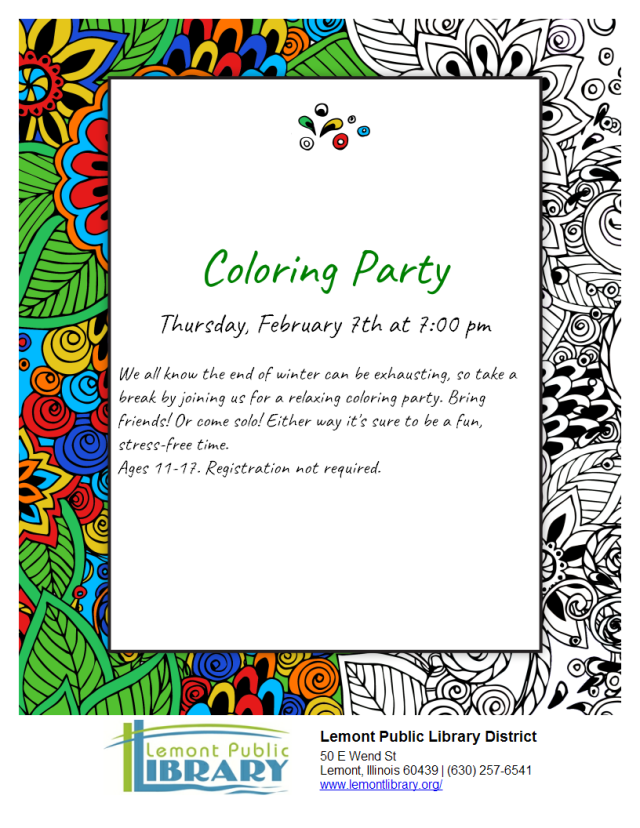 Coloring Party