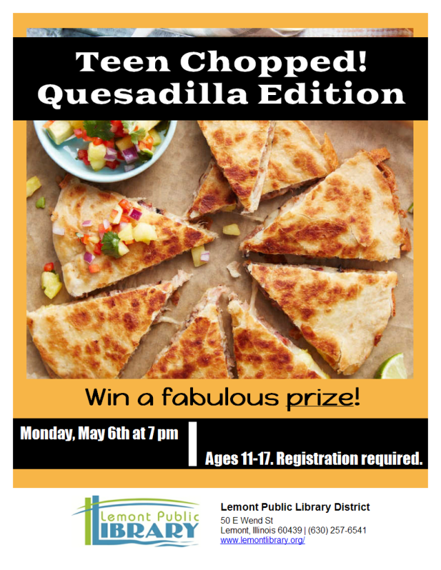 Chopped Quesadilla Edition