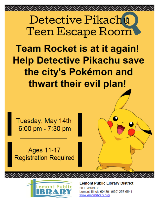 Detective Pikachu Escape Room